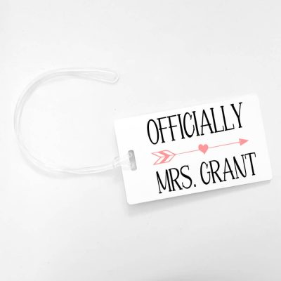 """Officially Mrs."" Luggage Tag"