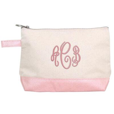 Monogrammed Canvas Makeup Bag