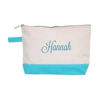Canvas Makeup Bag with Name