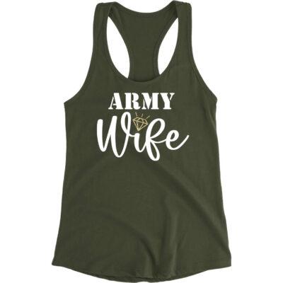 Rhinestone Military Wife Tank Top