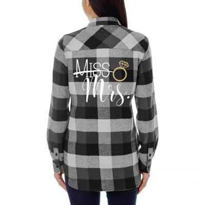 """Miss"" to ""Mrs."" Flannel Shirt"