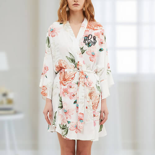 Monogrammed Floral Robe - Featured