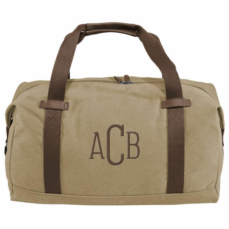 Monogrammed Canvas Duffel Bag
