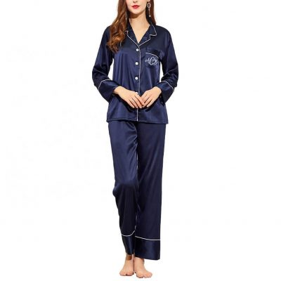Button-up Bridal Party Pajama Pant Set with Monogram