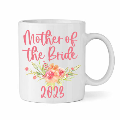 """Mother of the Bride"" Mug with Wreath"