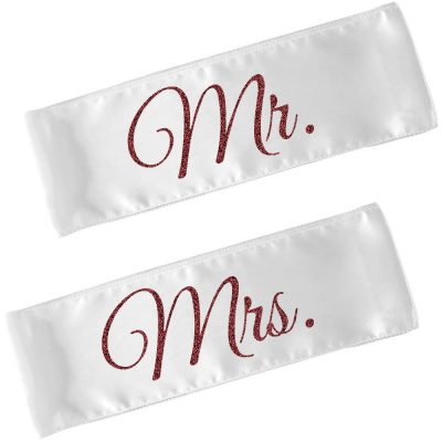 Personalized Mr. & Mrs. Wedding Chair Sashes (Set)