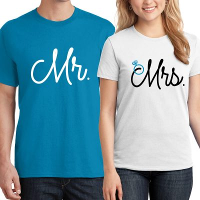 Mr. & Mrs. T-Shirt Set - Italic