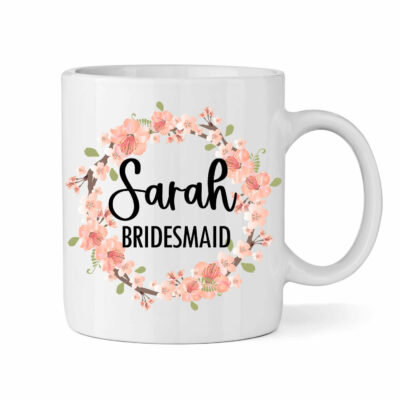 Wedding Party Mug - Peach Floral