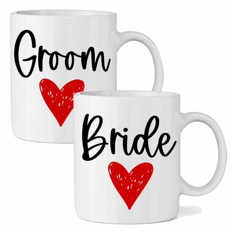 Bride & Groom Mug Set