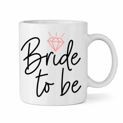 """Bride to be"" Mug with Ring"
