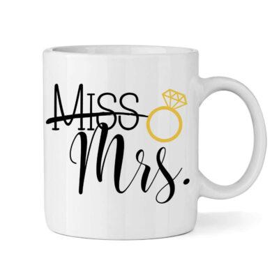 """Miss"" to ""Mrs."" Bride Mug"