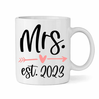 "Personalized ""Mrs."" Bride Mug with Date"