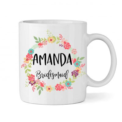 Wedding Party Mug - Colorful Floral