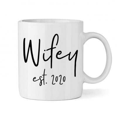 """""""Wifey"""" Mug with Est. Year"""