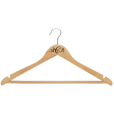 Monogrammed Wood Hanger - Natural