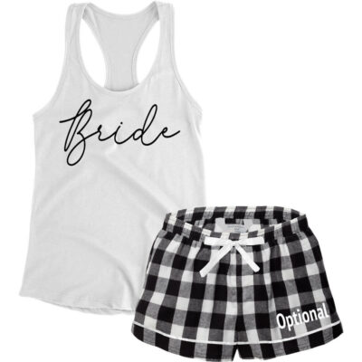 Design Your Own Bride Tank Top & Boxers Pajama Set
