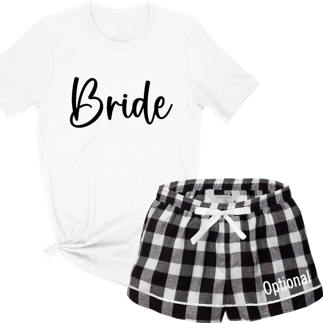 40f83db9c0 Design Your Own Bride Tank Top & Boxers Pajama Set | Personalized Brides