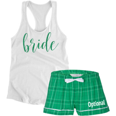 Bride Pajama Set with Optional Name - Script