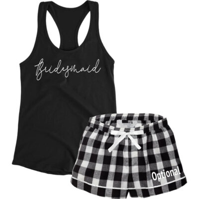 Design Your Own Bridesmaid Tank Top & Boxers Pajama Set