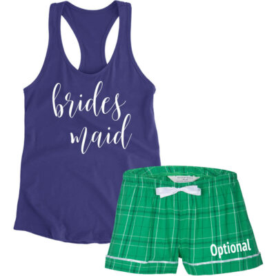 Bridesmaid Pajama Set with Optional Name - Script