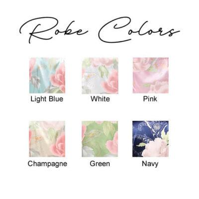 Pastel Floral Satin Colors