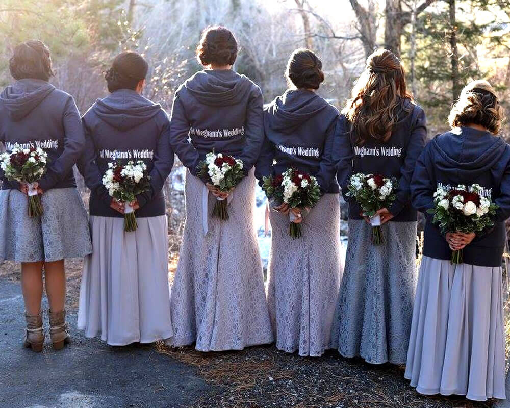 Navy Bridesmaid Hoodies