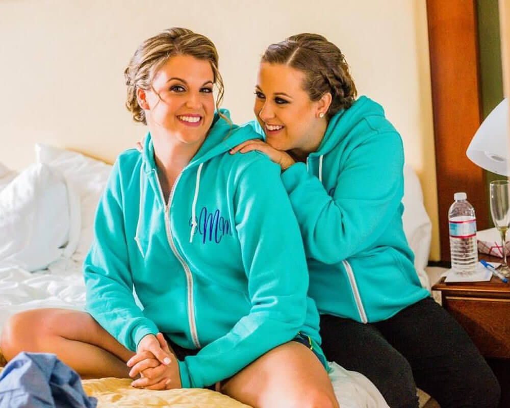 Teal Bridesmaid Hoodies