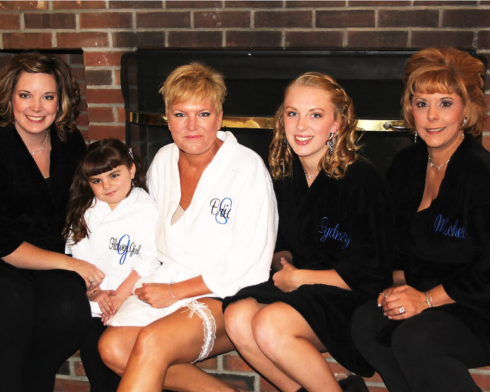 Black Plush Bridal Party Robes