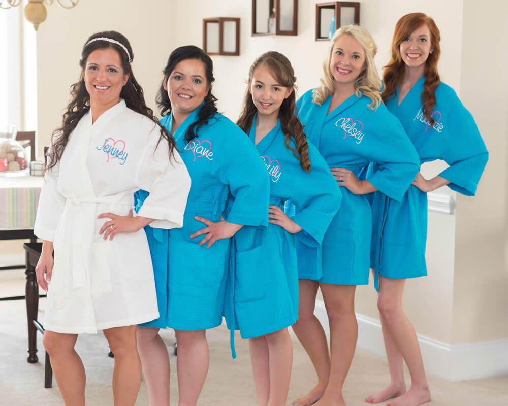 Turquoise Waffle Bridesmaid Robes
