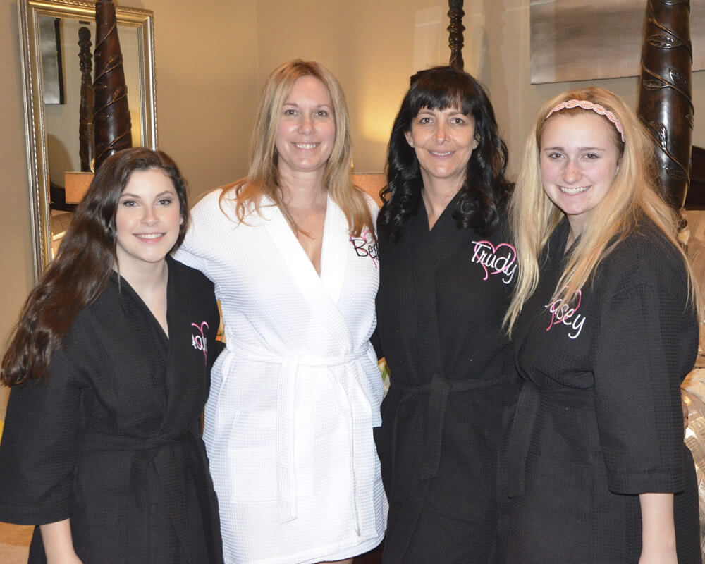 Black Waffle Bridal Party Robes