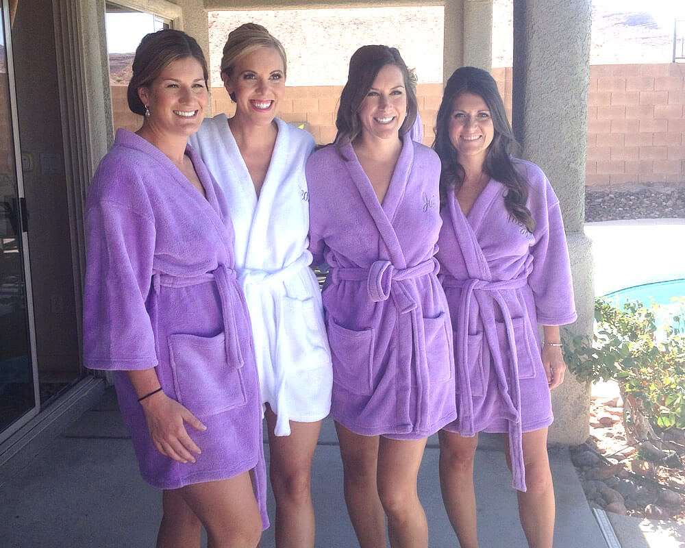Lavender Plush Bridesmaid Robes