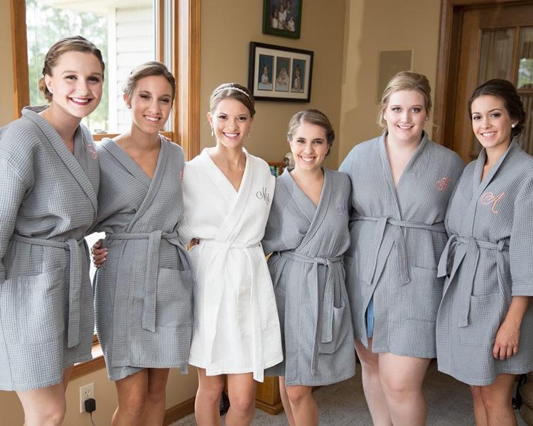 Gray Waffle Bridesmaid Robes