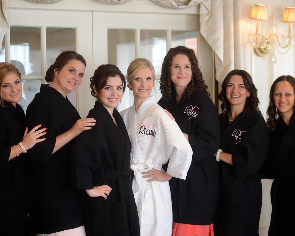 Black Waffle Bridesmaid Robes
