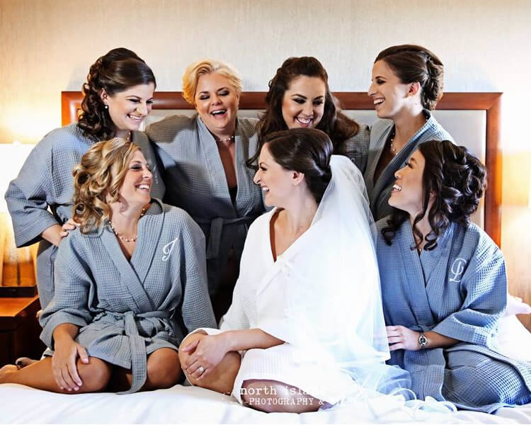 Gray Monogrammed Bridal Party Robes