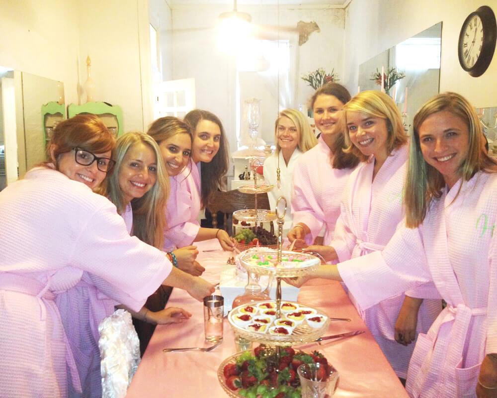 Pink Waffle Bridesmaid Robes