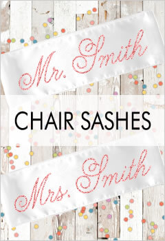 Personalized Chair Sashes