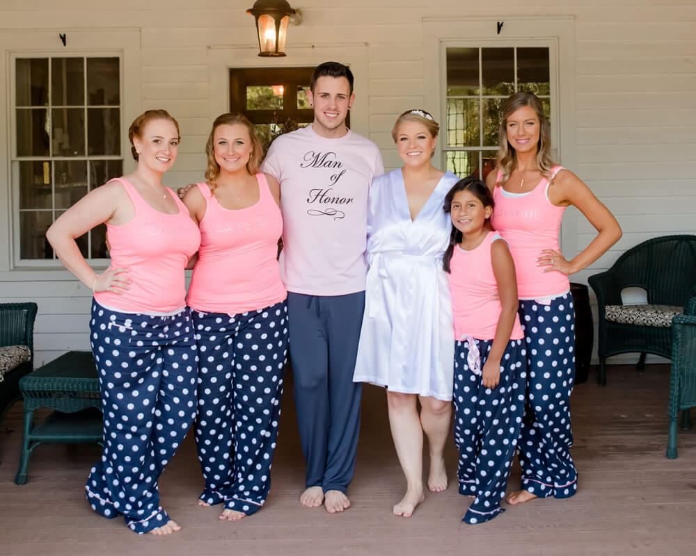 Flannel Bridesmaid Pajama Sets