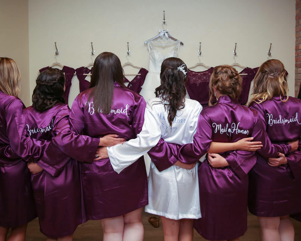 Purple Satin Bridesmaid Robes