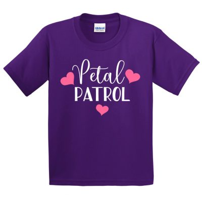 Petal Patrol Flower Girl Shirt with Hearts