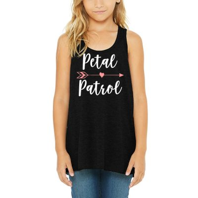 """Petal Patrol"" Flower Girl Tank Top with Arrow"
