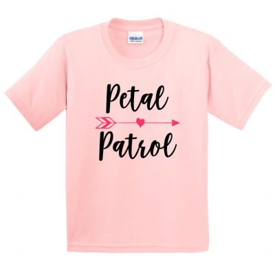 Petal Patrol Flower Girl Shirt with Arrow