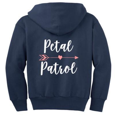 """""""Petal Patrol"""" Flower Girl Zip Hoodie"""