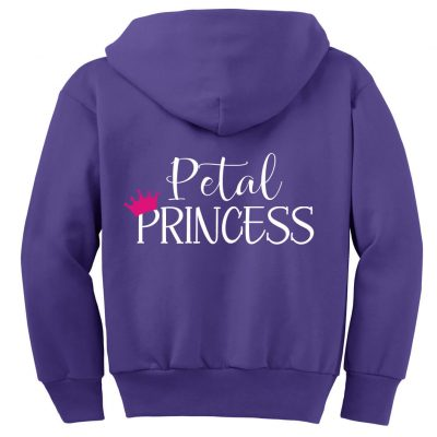 """Petal Princess"" Flower Girl Zip Hoodie"