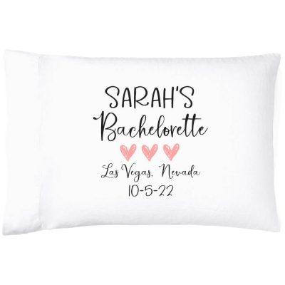 Personalized Bachelorette Party Pillowcase