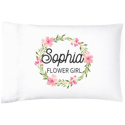 Flower Girl Pillowcase with Name