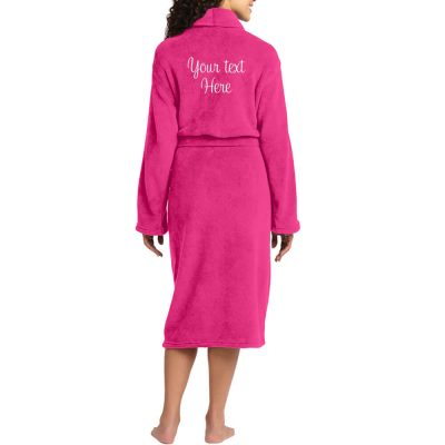 "Personalized ""Mrs."" Plush Bride Robe with Heart"
