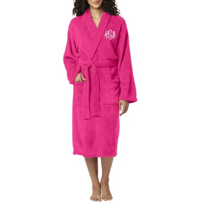 Personalized Plush Monogrammed Robe - Long