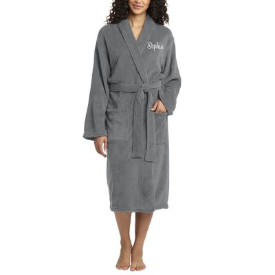 Personalized Plush Bridal Party Robe with Name - Long