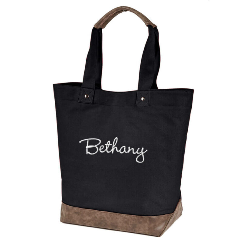 Resort Tote with Embroidered Name