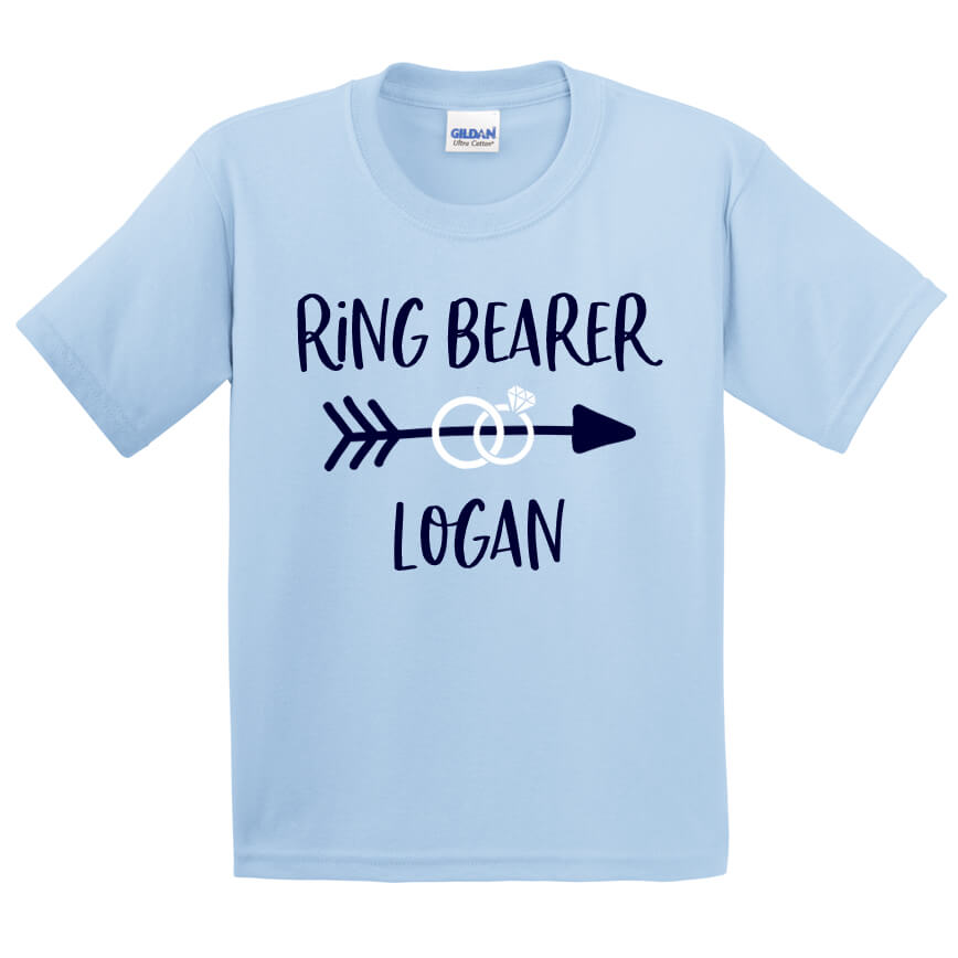 de65ac9598a47 Ring Bearer T-Shirt with Arrow | Personalized Brides